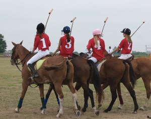 Girls Learning To Play Polo