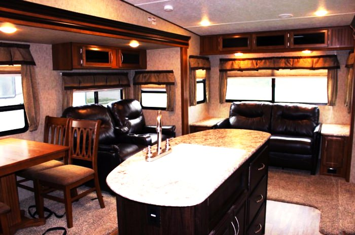 Inside of a recreational vehicle