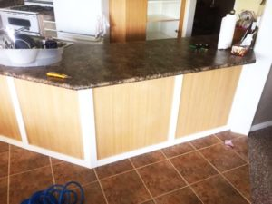 New countertop kitchen renovation